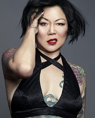 "In case you didn't already realize, Margaret Cho is #1 dreamboat 🖤 A little late to the party but this episode of @margaret_cho talking about Mercy Mistress to @tinahornsass on ""Why Are People Into That?"" remains a gem! Link in bio to listen. 🖤"