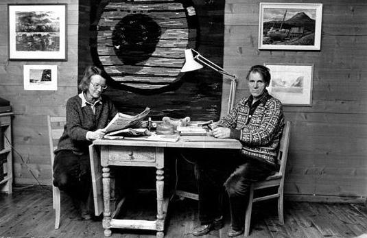 Bodil Cappelen og Olav H. Hauge