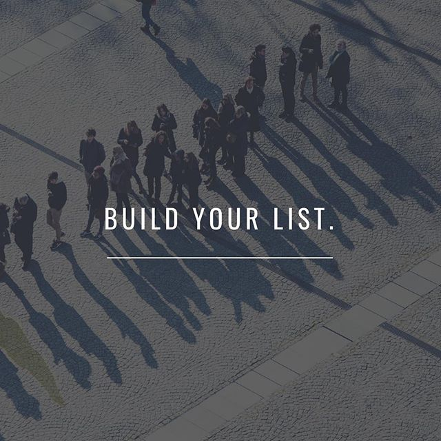 How are you building your list? #listbuilding #marketing101 #smallbusiness #dm #digitalmarketing #marketingdigital #marketing