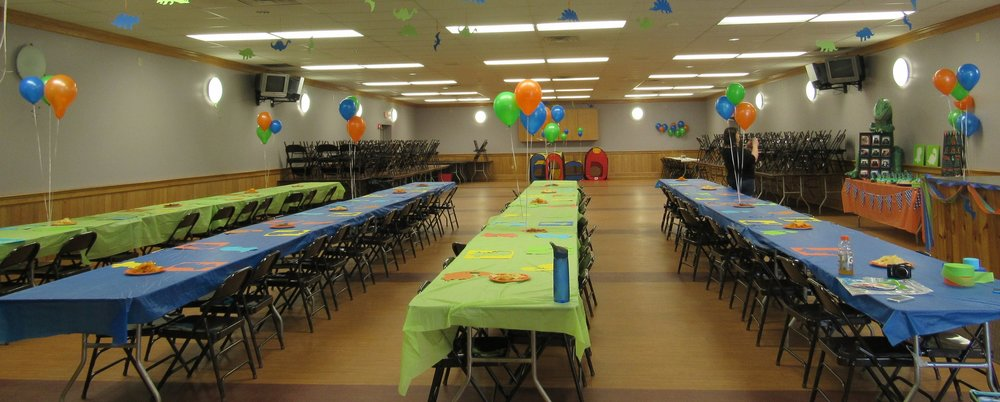Example of a hall set-up (Birthday Party)
