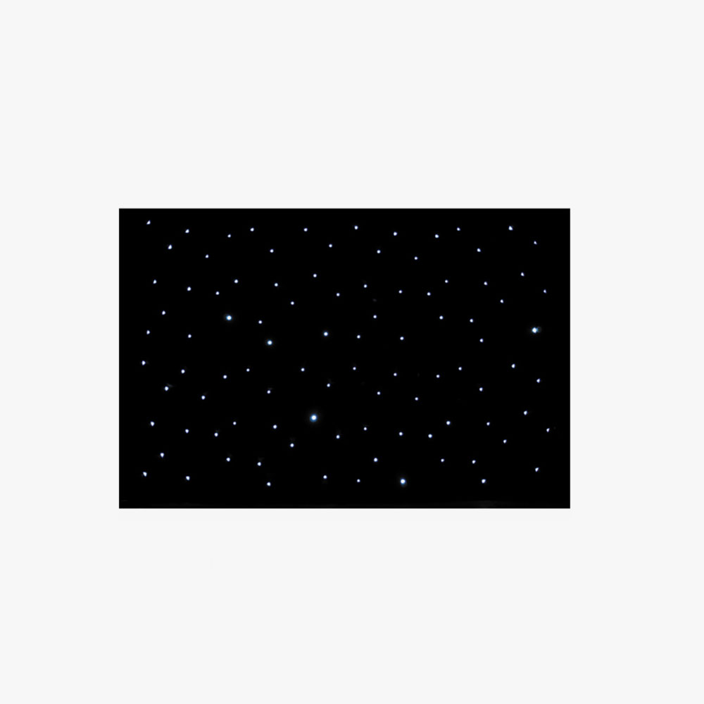 Black Starcloth: £150  6x3m, DMX Controllable