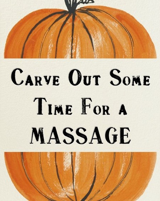 It's fall, so make sure you carve out some time for your massage! #takecareofyourbody #bodycare #massage #massagetherapy #stressknot #mtvernonil #mtvernon