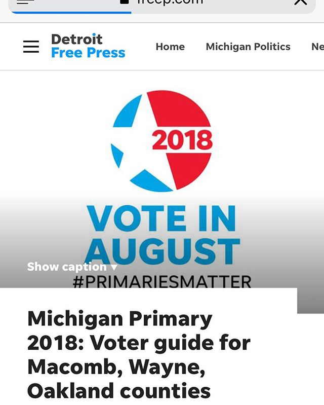 It's primary day in Michigan! @detroitfreepress has a great voter tool. Enter your address to see your ballot and conveniently research candidates.