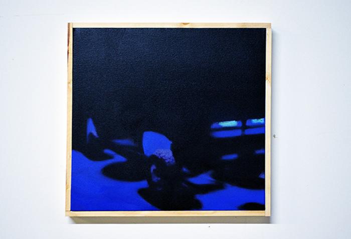 Nick Farhi - Enrique, 2014 - Oil on canvas, 18 x 17 IN