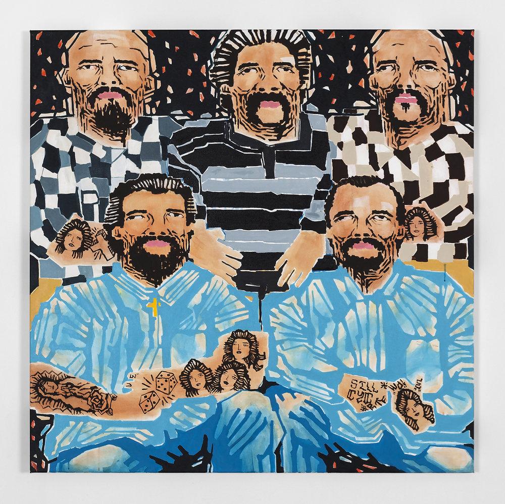 Koichi Sato Gangs, 2017 Acrylic on canvas 50h x 50w in 127h x 127w cm KS007