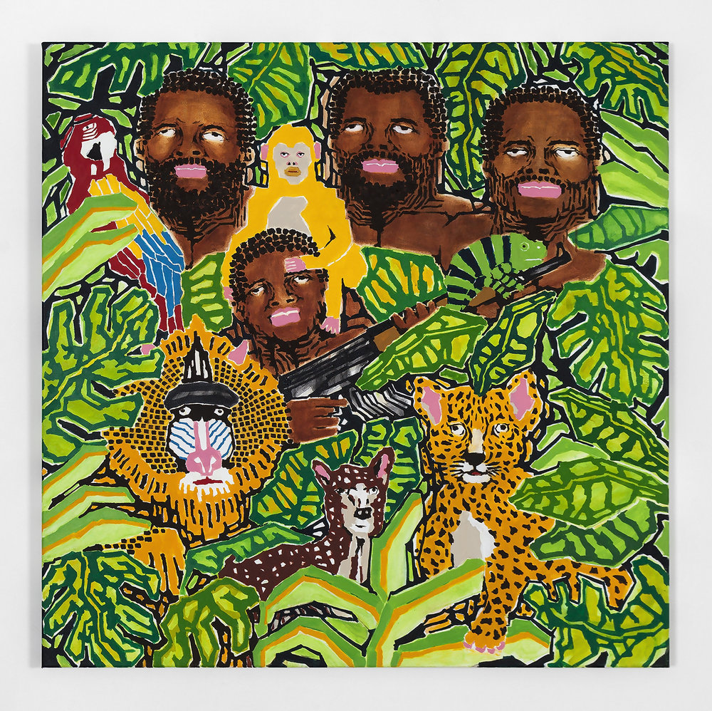 Koichi Sato Jungle Fever, 2017 Acrylic on canvas 50h x 50w in 127h x 127w cm KS009