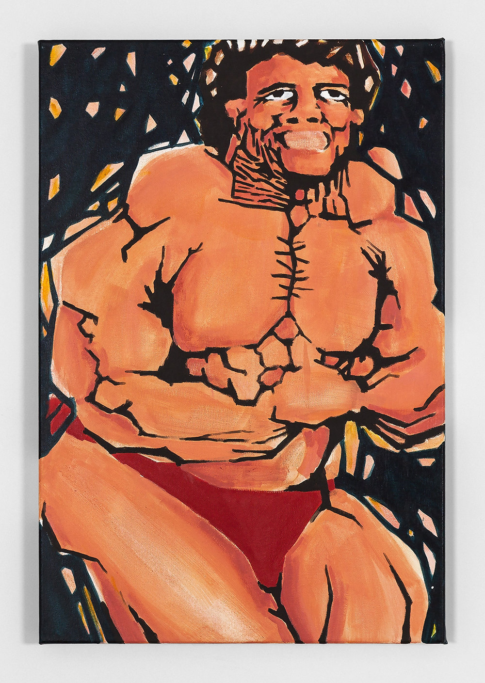 Koichi Sato Basic Muscle Pose 3, 2016 Acrylic on canvas 36h x 24w in 91.44h x 60.96w cm KS023