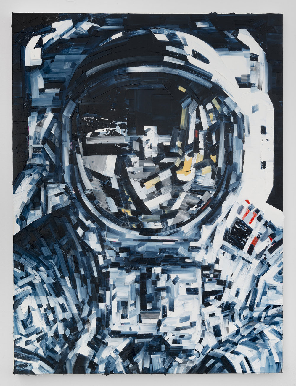 Michael Kagan  Aldrin, 2017  Oil on linen  40h x 30w in  101.60h x 76.20w cm  MK002