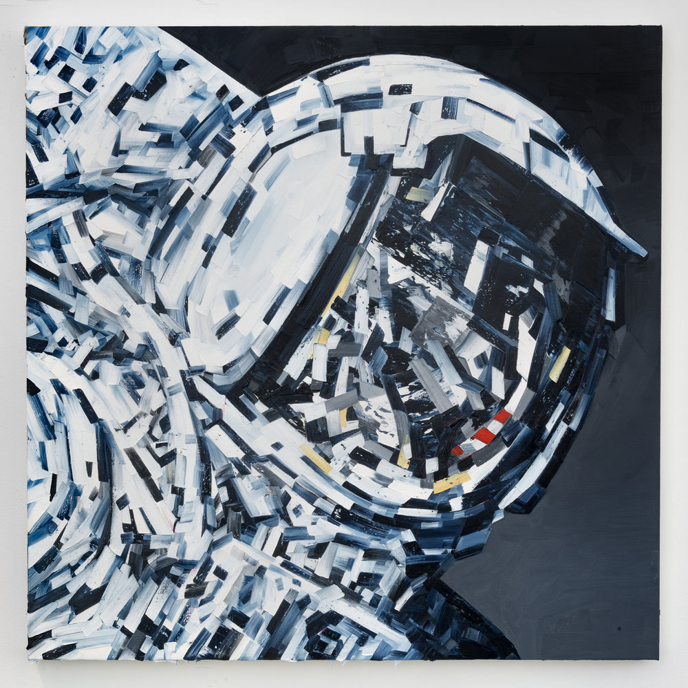 Michael Kagan  Moonwalk, 2018  Oil on linen  36h x 36w in  91.44h x 91.44w cm  MK007