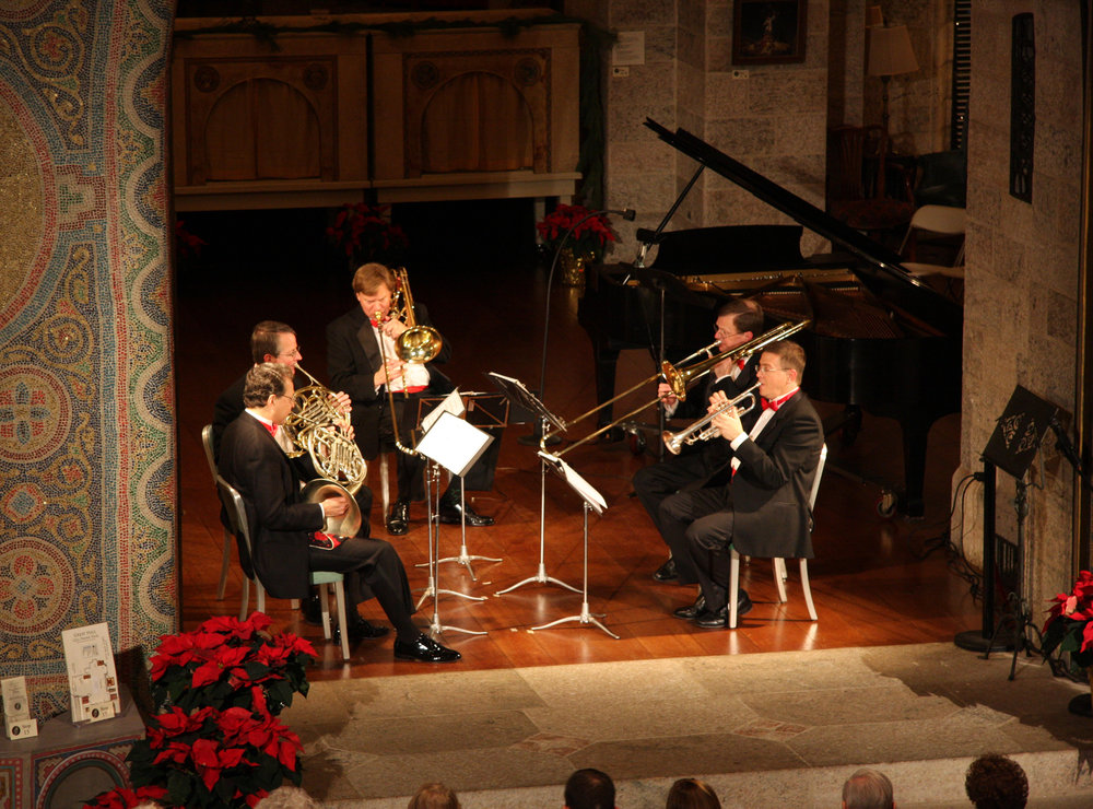 "The ""Glencairn Horns"" performing at the Christmas Sing Concert at Glencairn Museum"