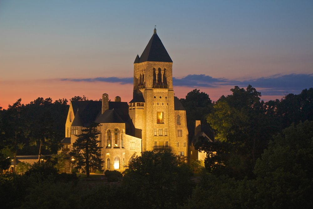 Glencairn Museum at dusk