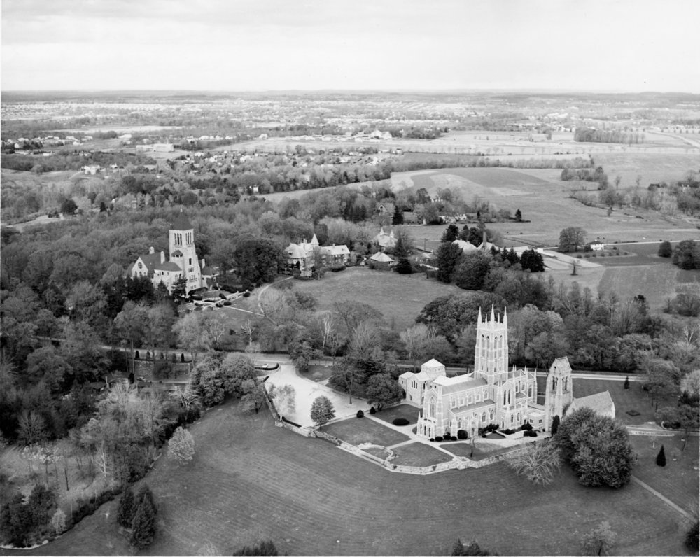 Archival image of the Bryn Athyn Historic District (date unknown)
