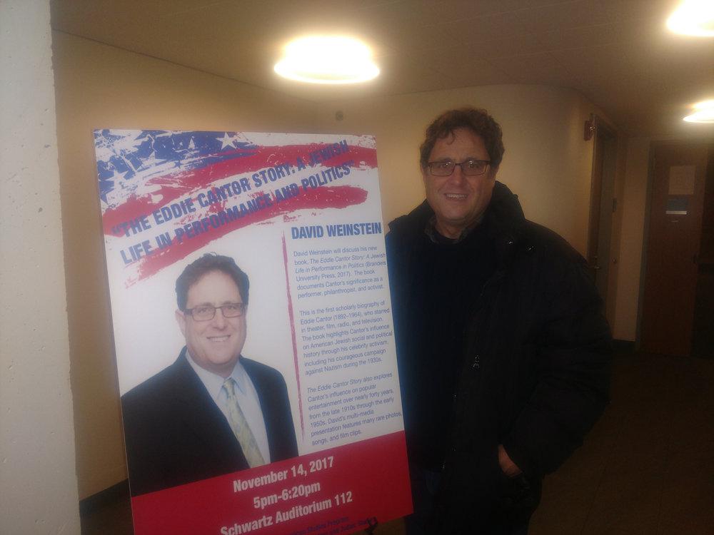 David at Brandeis Univ. 11/14/2017