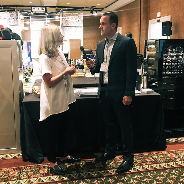 We love being on the scene with our clients! 🤩🎤 #TBT to supporting @CasoroJewelrySafes at the 29th Annual American Society of Interior Designers (@ASIDOC) Expo. ···⠀ #TurnedUPMedia | Amplify Your Brand 🔊