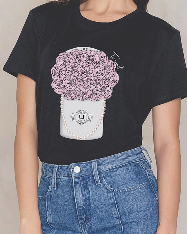 Look fab with the JLF Fleur tee! Use code JLFLEUR for 25% off now at Tovmali.com 💓