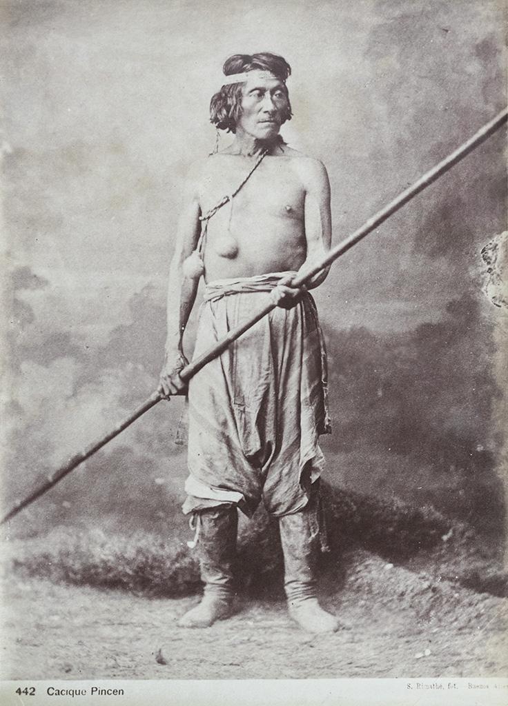Cacique Pincén / Chief Pincén , negative 1878; print, 1880s, Antonio Pozzo