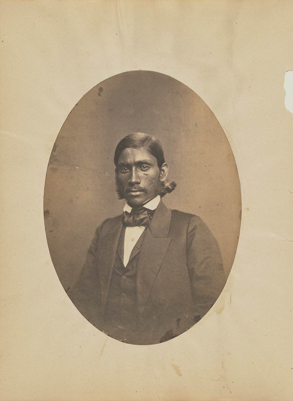 Portrait of a Gentleman in Baltimore, about 1859, Bendann Brothers, salted paper print. The J. Paul Getty Museum, Purchased in part with funds provided by Catherine Glynn Benkaim and Barbara Timmer