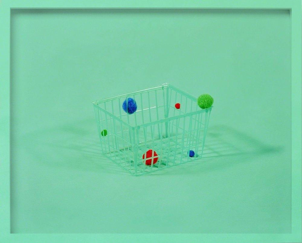 mauricio alejo,  little green basket , 2017