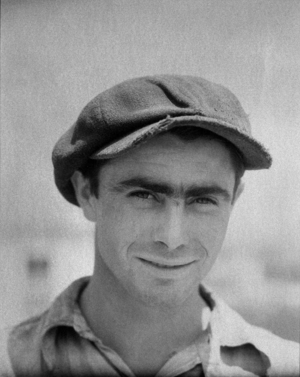 Walker Evans,  Construction Worker, Pennsylvania,  1935, Gift of Mr. Mead Kibbey and Mr. and Mrs. Howard Hays, Jr.