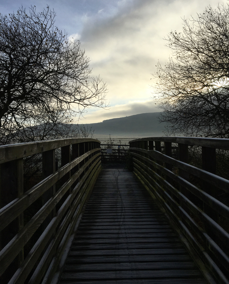 A cold, frosty morning on one of the many bridges around the loch.