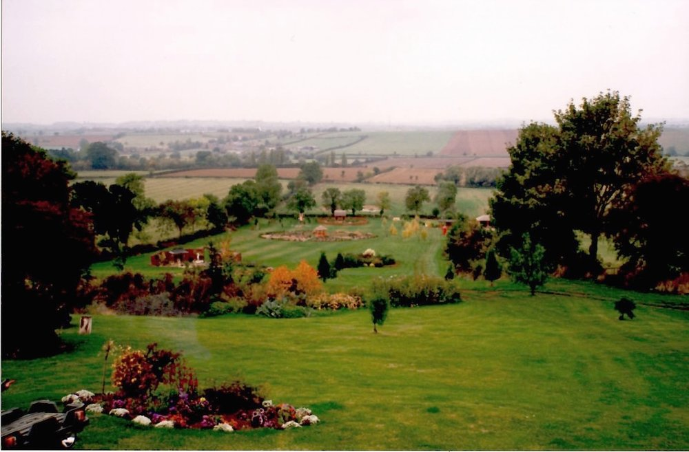 My father's last ever garden in early autumn. Our house looked over this valley and on a clear day you could see five villages.
