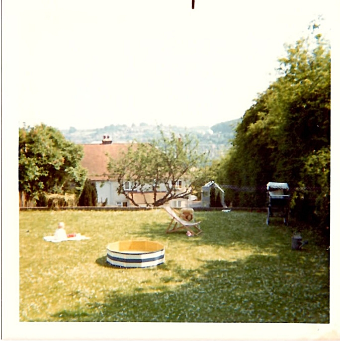 Another house, another garden in which to play.