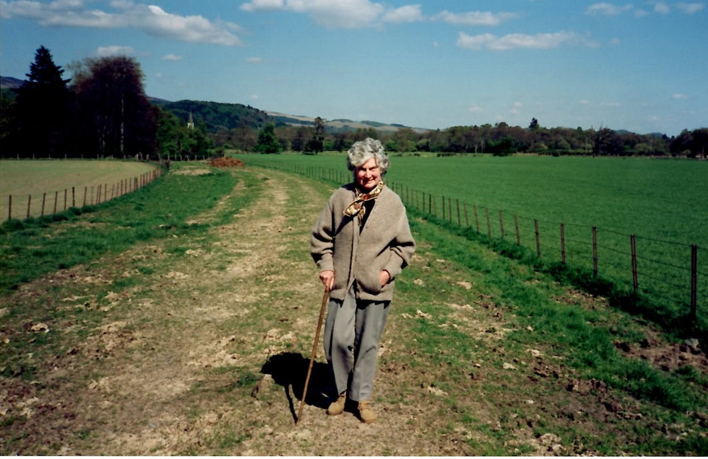My grandmother 'Piglet'. So called because her hearing aid used to squeak. Even in her later years she still loved to walk.
