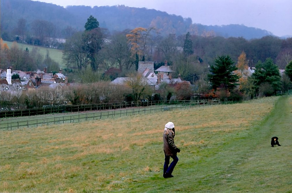 On a long walk among the hills by the village of Turville.