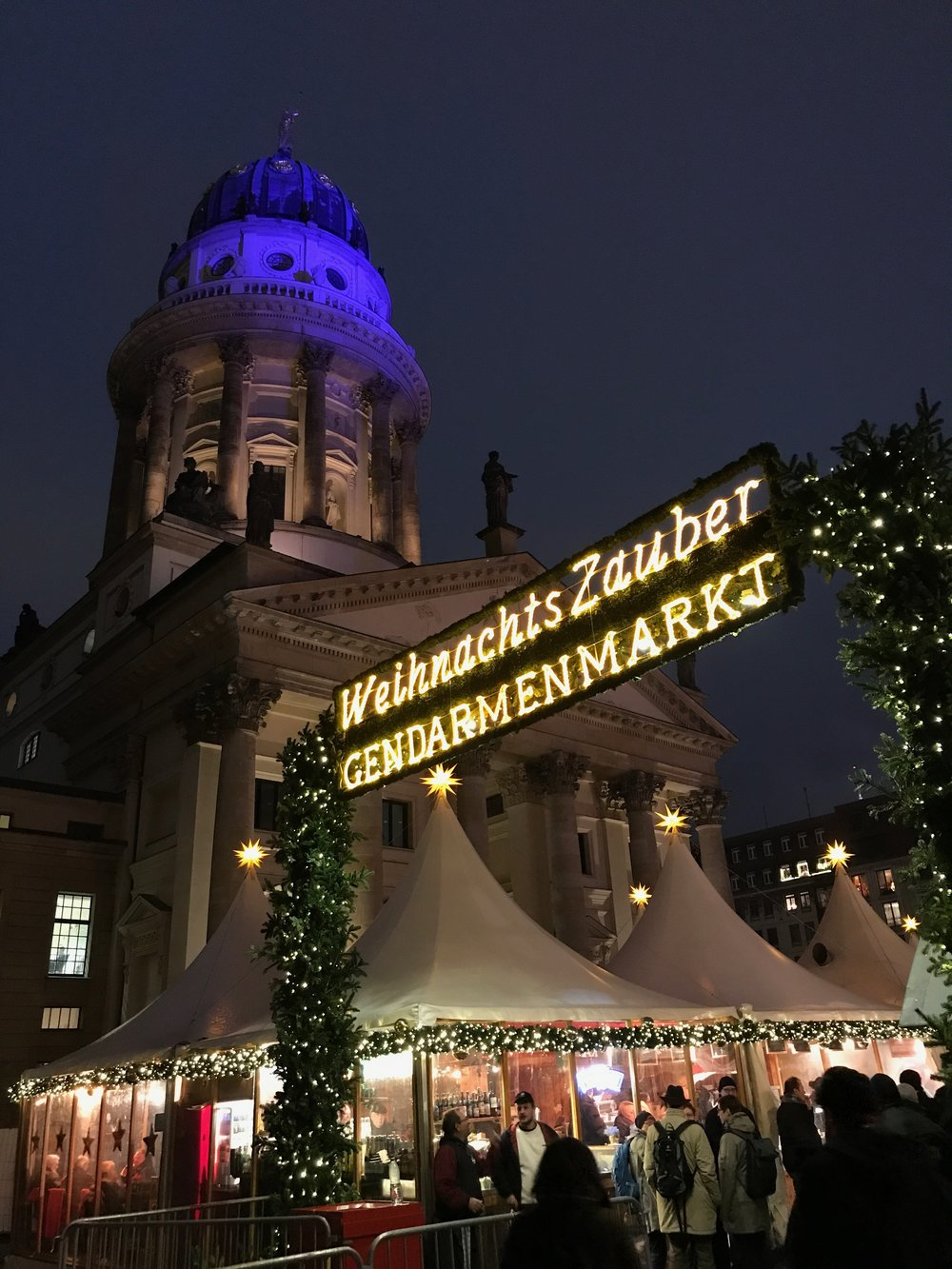 The Christmas market on our first night in Berlin.
