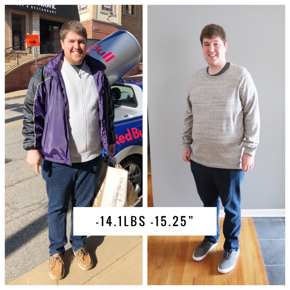 See How Jared Lost -14.1 Pounds and -15.25 Inches in 1 Month
