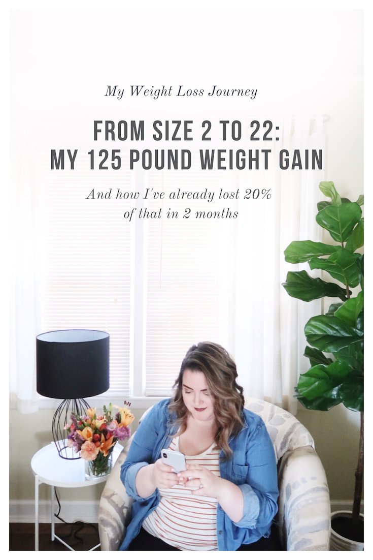 My Weight Loss Journey | From Size 2 to 22: My 125 Pound Weight Gain | And How I've already lost 20% of that in 2 months  -  Simplyhomekc.com