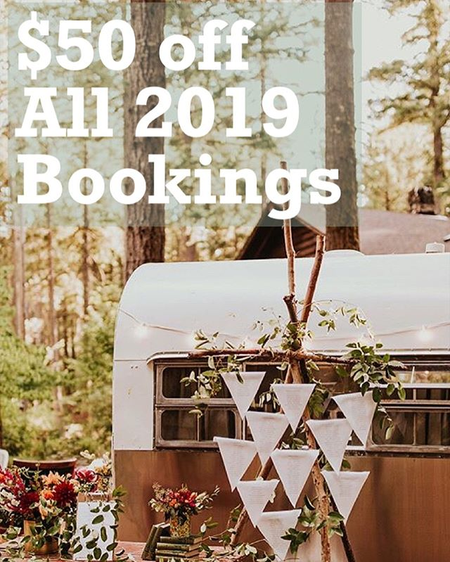 We're looking forward to joining you next year!!! We're offering $50 off any bookings from now until 12/15/18 for 2019!!! Can't wait to party with you!!!