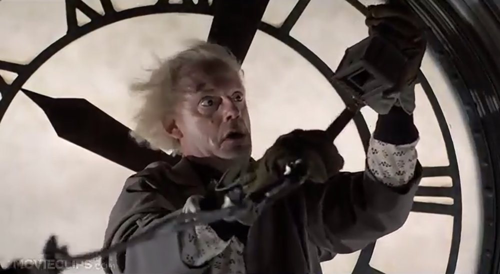 Doc Brown, saving the day .. shipping!