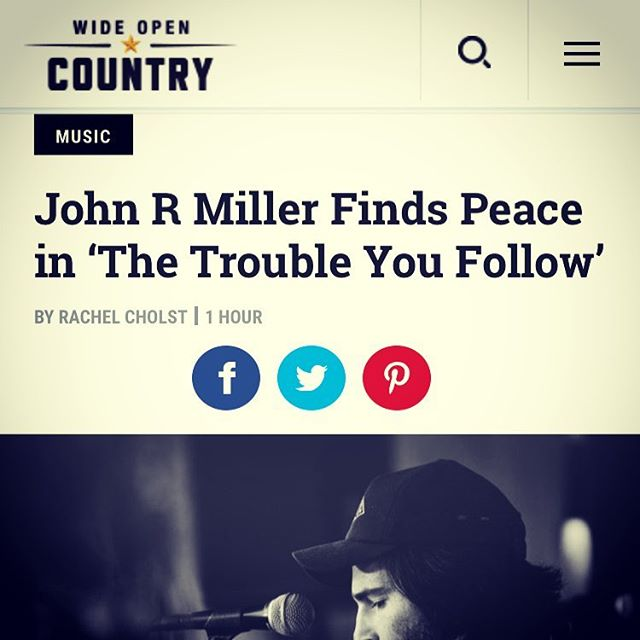 "Check out this great write up of 'The Trouble You Follow' over at @wideopencountry : ""It's when Miller slows things down, though, that we get the biggest payoff. While it's fun to party along with Miller and the Engine Lights, these more contemplative songs feel like a sucker punch. ""The final two songs on the album, ""The Wheel"" and ""Strung Out,"" bring warm compassion to the kinds of regrets we all have. Ultimately, Miller seems to be acknowledging that the hard stuff is what we need to do in order to grow as people."" Amen to that."