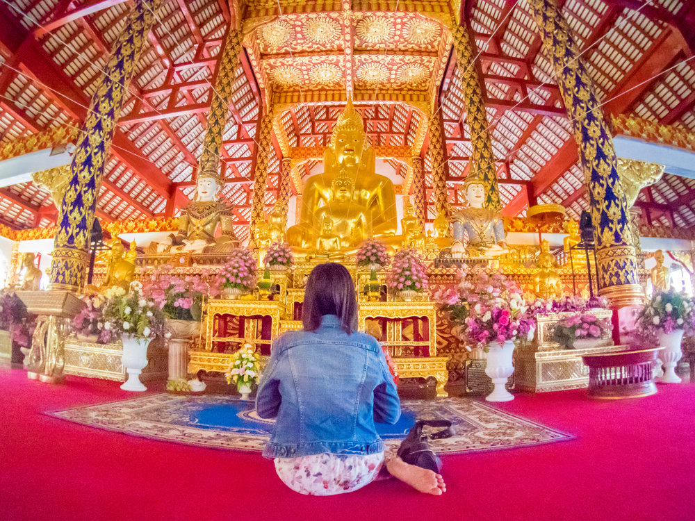 The wide angle came in handy in Thailand for capturing the beauty inside the Buddhist temple and the worshipper