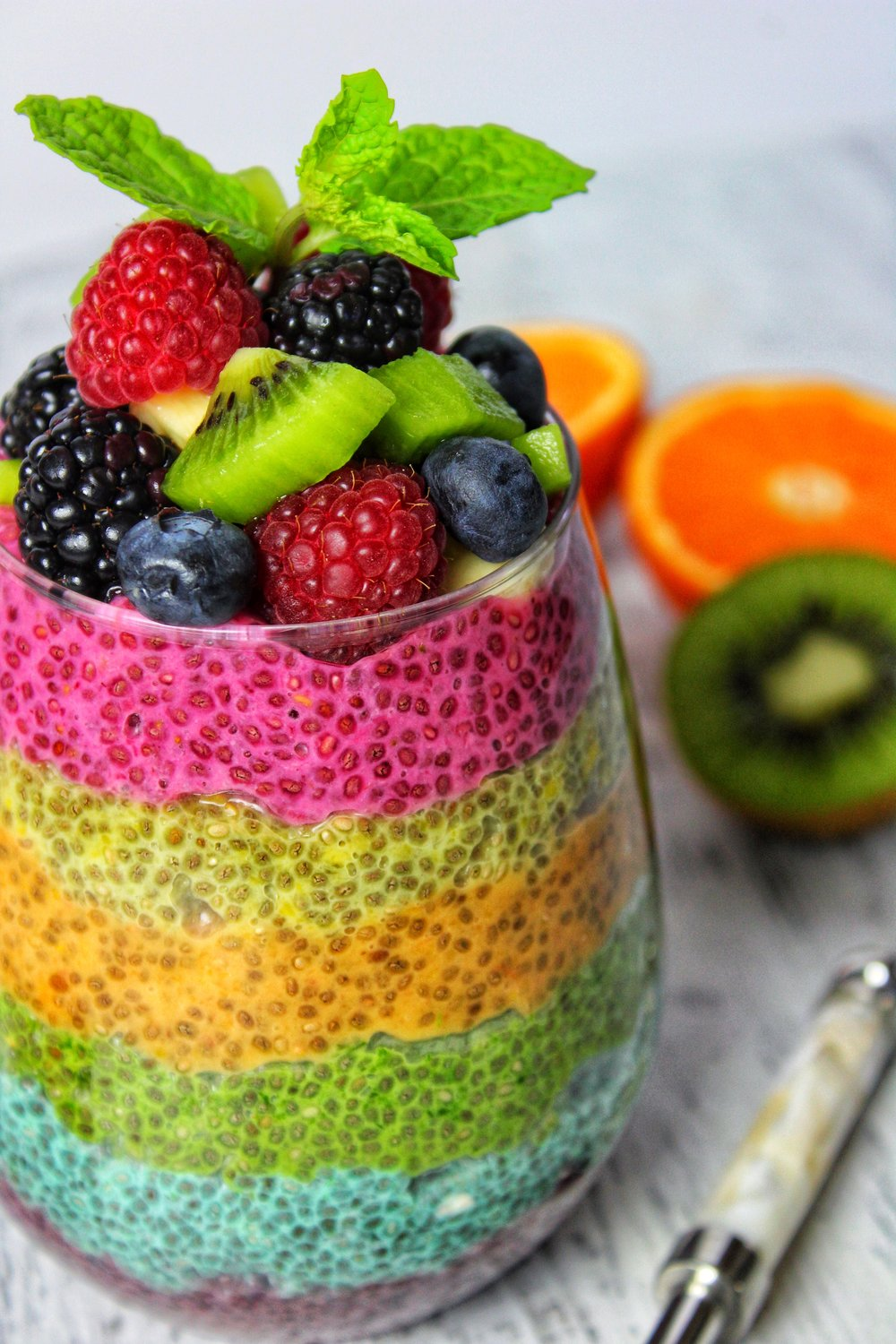 Taste the chia rainbow!
