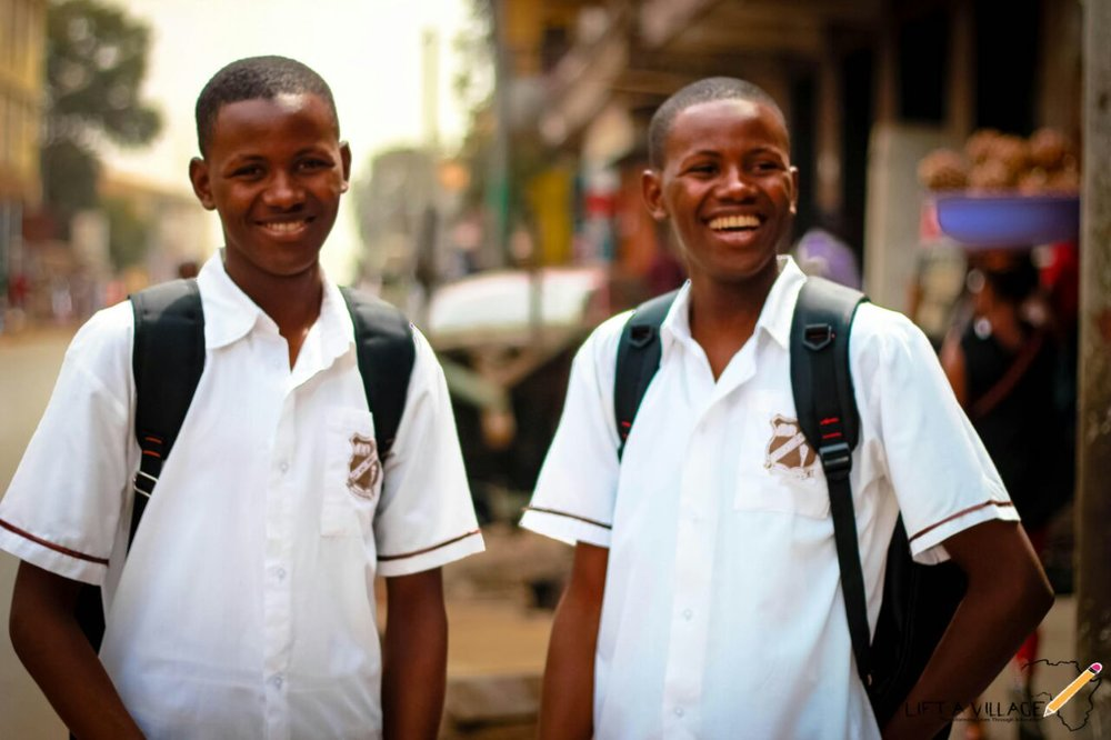 Allusine (Left) and Alhassan(Right). The twins are from Kissy Road in Freetown, Sierra Leone
