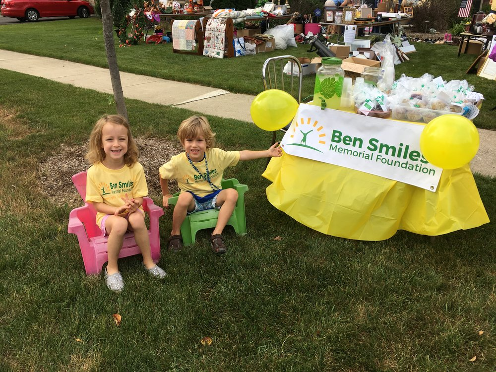 Ben's bro and sis manning the bake sale