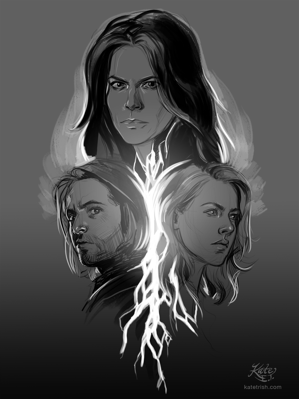 Emily Hampshire, Aaron Stanford, and Amanda Schull (12 Monkeys