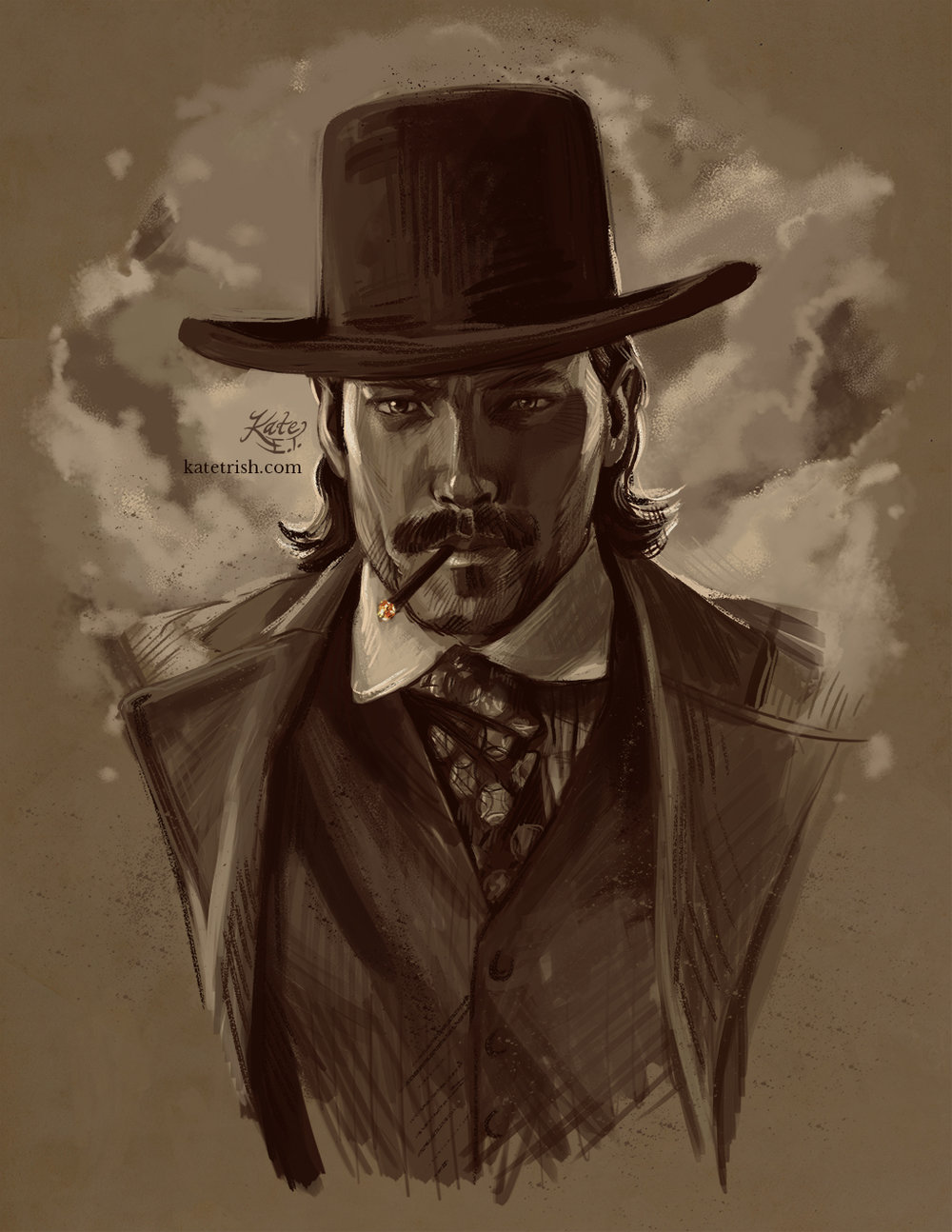 Tim Rozon as Doc Holliday (Wynonna Earp) - Commissioned Print