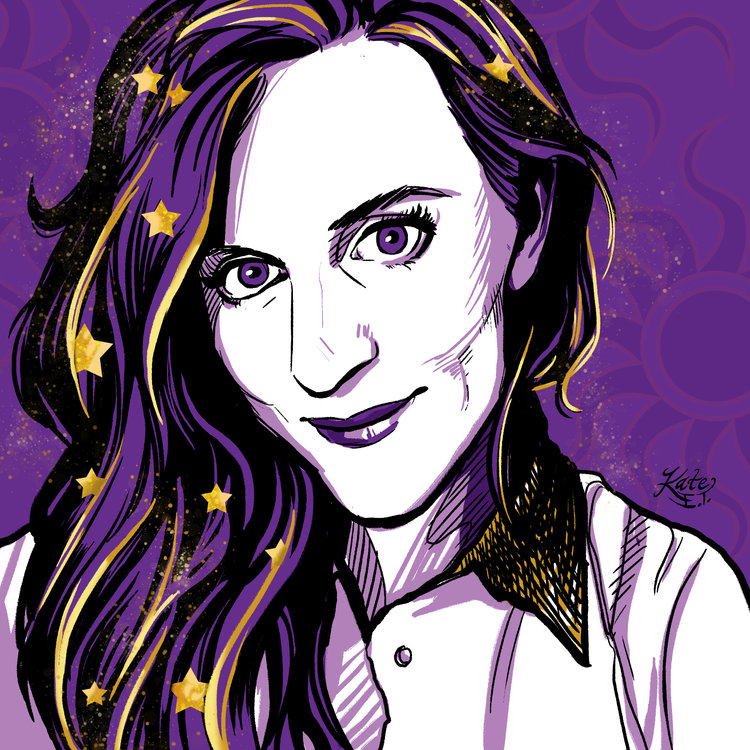 This icon portrait of the lovely Claire Legrand, author extraordinaire, is one of my favorites.
