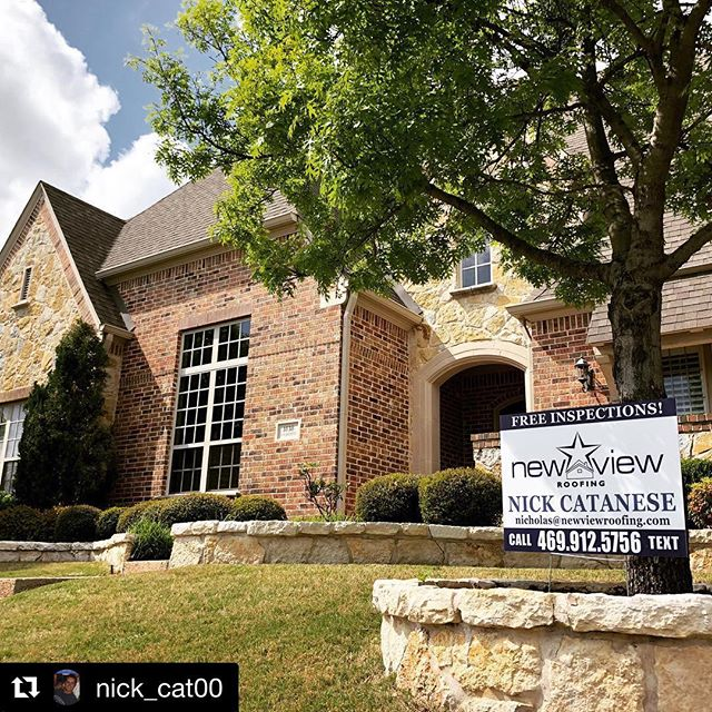 #Repost @nick_cat00 with @get_repost ・・・ This roof just got approved by the insurance to install a new roof and the customer already signed up to be a New View Customer. This was an Allstate claim. Thanks for the help Pedro Seranto #nicktheroofguy #newviewroofing #allen #Romansdad