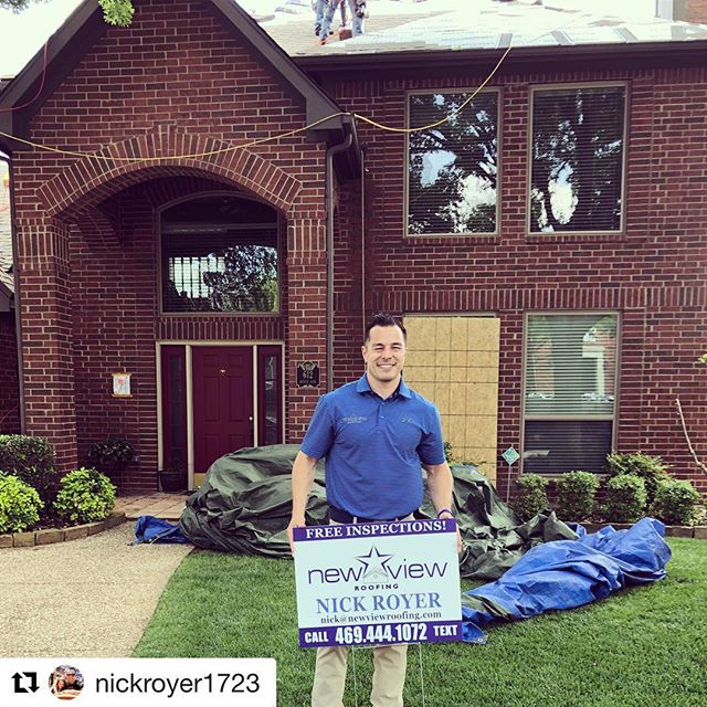#Repost @nickroyer1723 with @get_repost ・・・ Another repeat customer from the recent hail storm ⛈ in Plano . Thank you for trusting us-we appreciate you ! #lovetheprocess #newview #newviewroofing #yotg🐐 #dfwroofing #dfwhailrepair #planotx #plano #dfwrealestate #roofing #roofinglife🔨 #construction #contractorsofinsta #stormrestoration #stormresponse #hail #roofreplacement