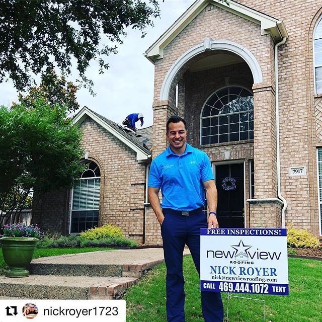 #Repost @nickroyer1723 with @get_repost ・・・ Another customer I got from knocking doors 2 weeks ago. Until it stops workin, we're gonna keep on knockin! Thank you to Mary for choosing me as your Contractor, New View appreciates you 😊 #lovetheprocess #newviewroofing