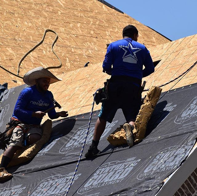 No matter how hot it gets this summer, our crews will be out working! We preach safety first with all of our workers  #roofing #roofinglife #roofingcontractor #rooftops #stormdamage #hailstorm #hailstones #texasweather #texasforever #texasstrong #southlake #southlaketx #shingles #highdefinition #ridge #instadfw #dfwhomes #dfwrealestate #newview #newviewnewhouse #newviewlife #curbapppeal #exteriorhome #exteriorremodeling #exteriorview #exteriorarchitecture #homeexterior #exteriors #roofdeck #safetyfirst