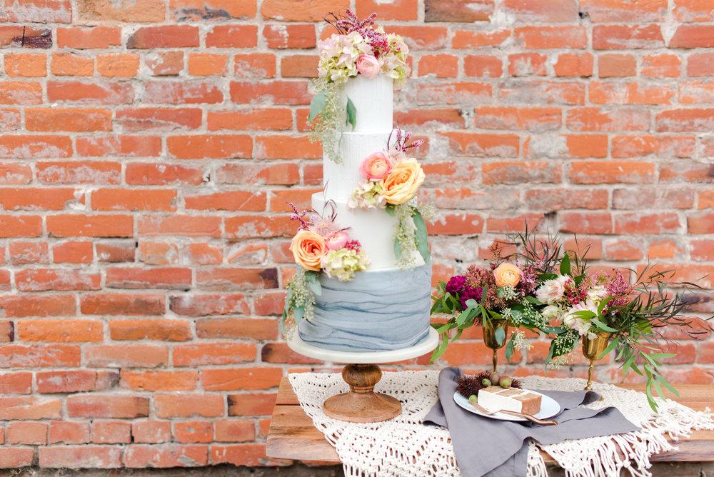 heart and soul blue thistle cakes Lacey Rene kc florist kc wedding florist Kansas florist