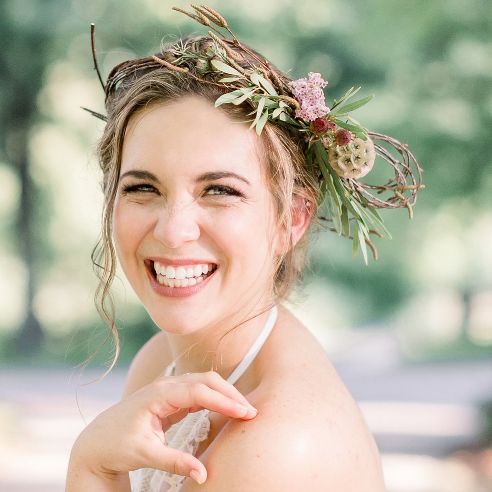 KC wedding florist floral crown