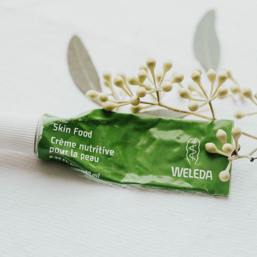 Weleda Skin Food - If you take one thing from this post, let it be this product. It's healing, it's comforting, it's a life saver. Weleda is known for super hydrating products especially their skin food line. This was a sample I got, not knowing how much this little guy would change my skin.