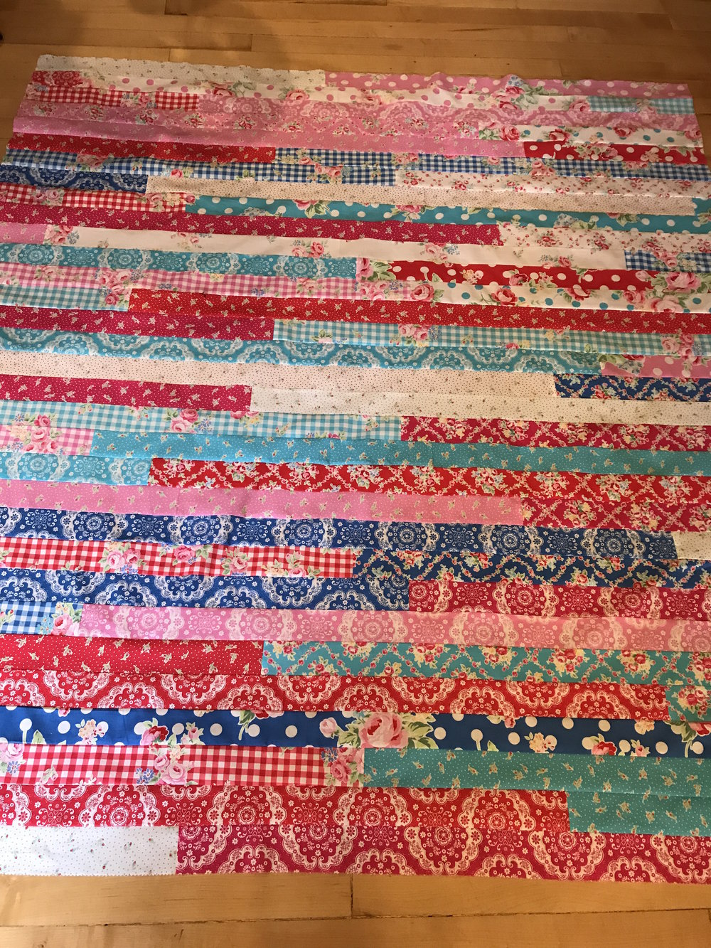 Have you ever made one of those jelly roll races quilt?