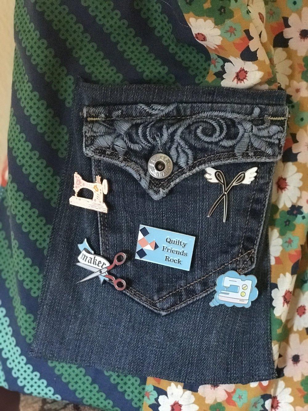 Love the upcycled denim pocket